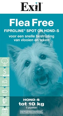 Exil Flea Free Fiproline Spot-On Hond