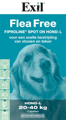 Exil Flea Free Fiproline Spot-On Hond 3 pip (20-40kg)