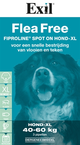 Exil Flea Free Fiproline Spot-On Hond 3 pip (40-60kg)
