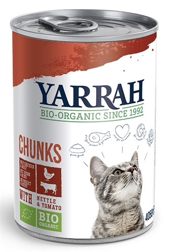 Yarrah Cat Blik Brokjes Kip/Rund In Saus