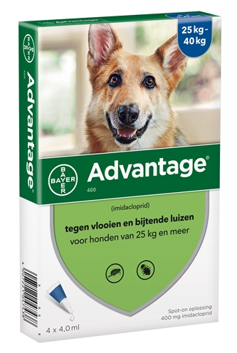 Bayer Advantage 400 Hond 4 Pip (25-40kg)