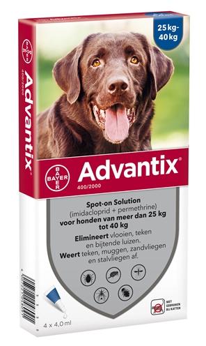 Afbeelding Advantix 400/2000 voor honden van 25 tot 40 kg 4 pipetten door Discount4Pets