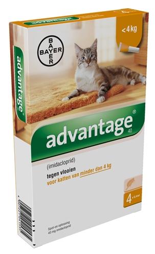 Advantage Nr. 40, Vlooienmiddel (tot 4kg) kat Per verpakking
