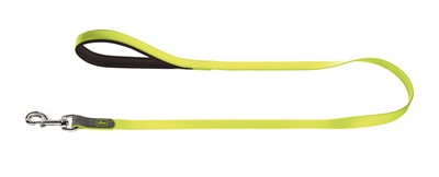 Hunter Hondenriem Convenience Neon Geel 15mm - 120cm