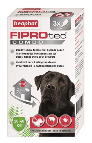 Beaphar Fiprotec Combo Large Hond 3 pip. (20-40kg)