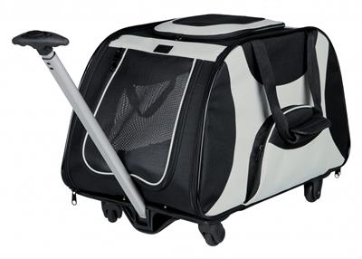 Trixie reismand trolley zwart / grijs 67x34x43 cm
