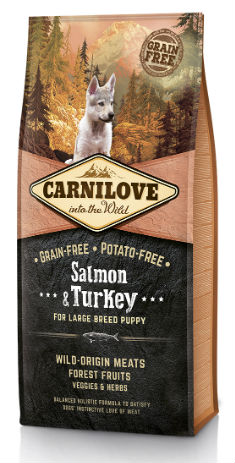 Afbeelding van 12 kg Carnilove Puppy Large Salmon / Turkey (Tijdelijke actie)...