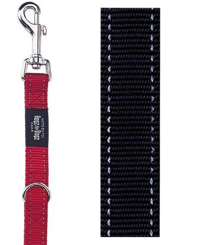 Rogz For Dogs Fanbelt Multipurpose Lijn Zwart