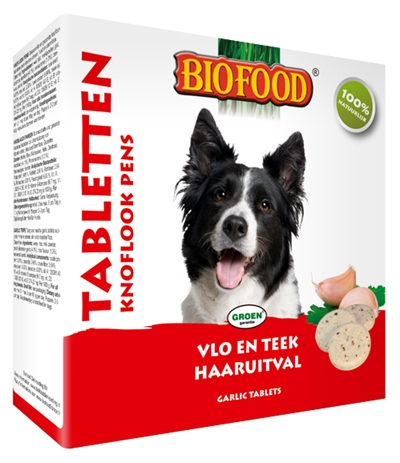Afbeelding van Biofood Hondensnoepjes Anti vlo Pens 55st.
