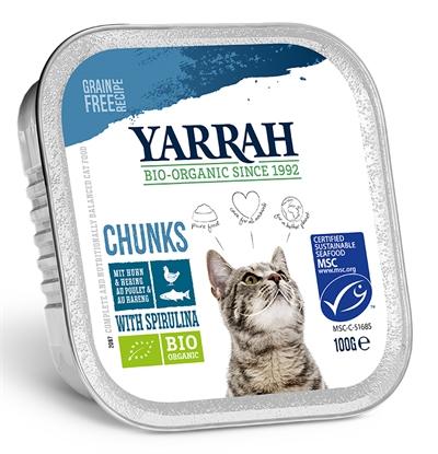 Yarrah Cat Kuipje Brokjes Kip/makreel