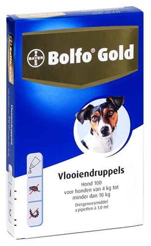 Bolfo Gold Hond 100 4 pip (4-10kg)