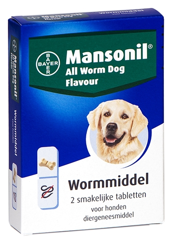 Mansonil Hond All Worm Tabletten