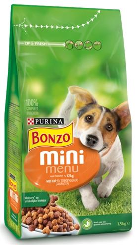 Afbeelding van Bonzo Mini Adult Menu Kip 1.5kg Hondenvoer Droogvoer