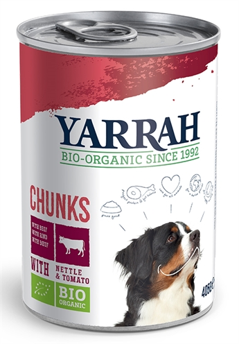 Yarrah Dog Blik Brokjes Vlees In Saus Met Brandnetel En Tomaat
