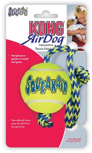 Kong Air Squeaker Ball met Touw