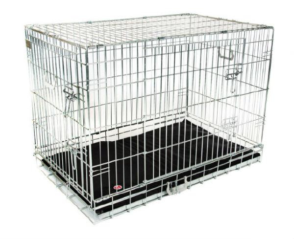 Hondenbench Premium Zilver (XXL) 120x76x82cm