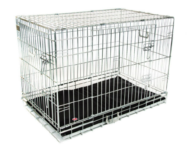 Hondenbench Premium Zilver (M) 76x48x53cm