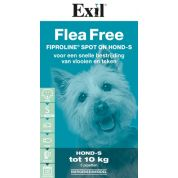 Exil Flea Free Fiproline Spot On Hond Small 3 Pipet