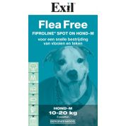 Exil Flea Free Fiproline Spot On Hond Medium 3 Pipet