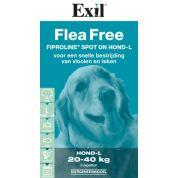 Exil Flea Free Fiproline Spot On Hond Large 3 Pipet