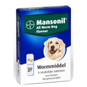 Mansonil Hond All Worm Tabletten 6st.