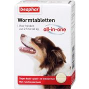 Beaphar Wormtablet All-In-One Hond 7,5-40 Kg 4 Tbl