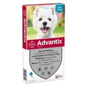 Bayer Advantix Spot On 100/500 4-10 Kg - 4 Pip