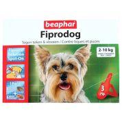 Beaphar Fiprotec Hond Tegen Teken En Vlooien 2-10 Kg 3 Pip