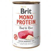 Brit Mono Protein Beef & Rice Hond 6x400gr