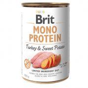 Brit Mono Protein Turkey & Sweet Potato Hond 6x400gr