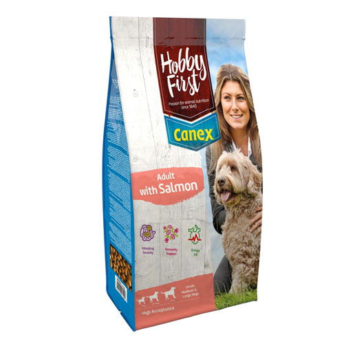 Afbeelding HobbyFirst Canex Adult met Zalm hondenvoer 12 kg door Discount4Pets