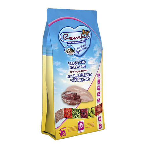 Renske Super Premium Droogvoeding Puppy Verse Kip en Lam Hond 2kg