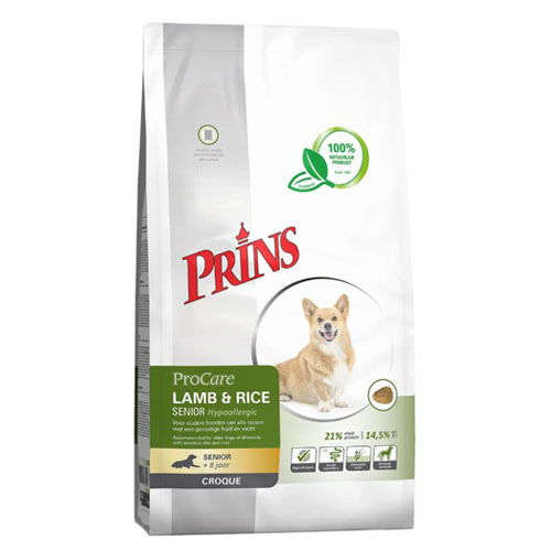 Prins ProCare Croque Lam & Rijst Senior Hypoallergic Hond 10kg