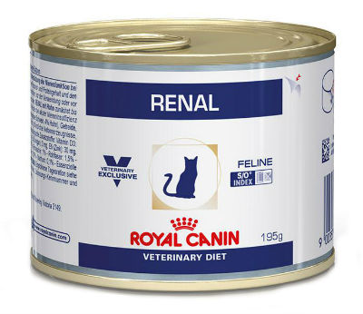 Royal Canin Veterinary Diet Renal 195 gr blik kattenvoer 1 tray (12 blikken)