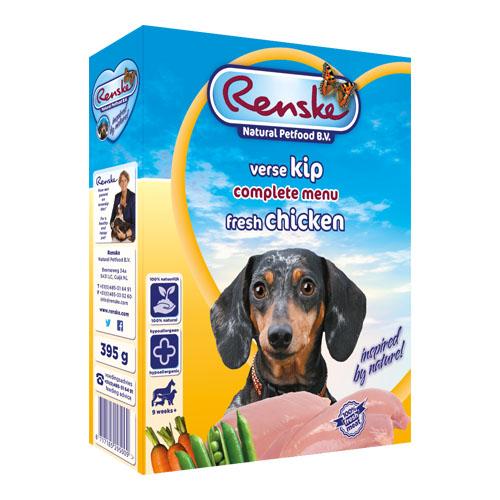 Afbeelding Renske Vers Kip hondenvoer 1 tray (10 x 395 gram)