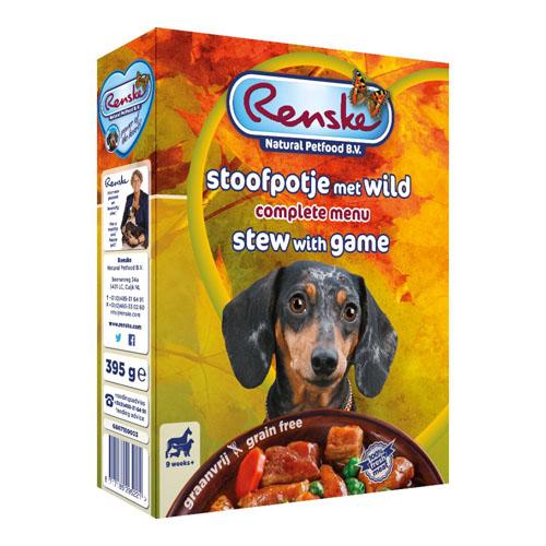 Afbeelding Renske Vers Graanvrij Stoofpotje met wild hondenvoer 1 tray (10 x 395 gram)